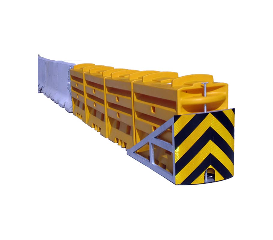 SLED End Terminal Water Filled Barrier