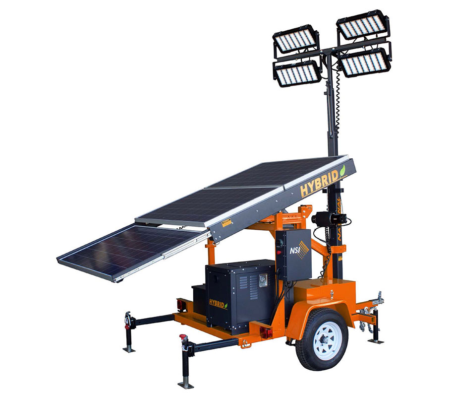 Hybrid Solar Light Tower