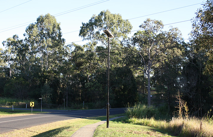 Solar Lights Installed at Gympie Regional Council
