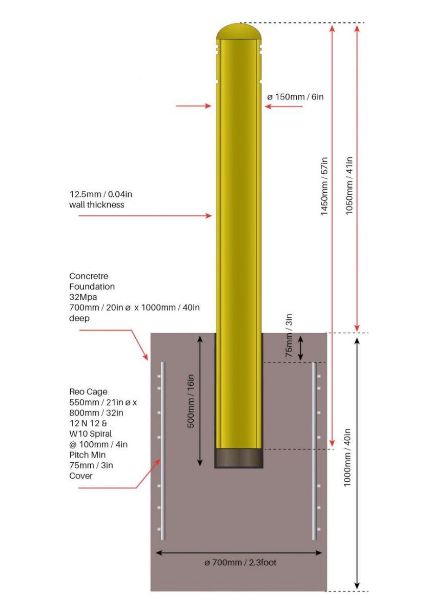 OmniStop Ultra Bollards Yellow
